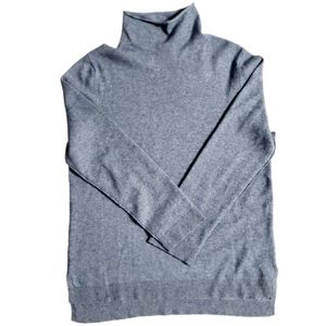 NWOT DKNY Blue Turtleneck Wool Cashmere Sweater